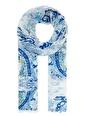 Mavi Şal Beyaz